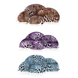 Wholesale Make Up Storage Containers - Newest 4PCS Set Multifunction Lady Make Up Cases Cosmetic Bags Women Makeup Storage Organizer Sexy Leopard Shell Shape Container