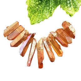 YL051 11pcs arancio titanio cristallo Agata Druzy quarzo Geode ciondolo in pietra set di perle da