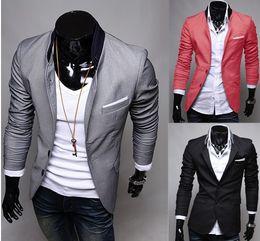 Wholesale Top Mens Suits Brands - Wholesale-Free Shipping 2015 New Fashion Men Blazers,Top Brand Mens Suits,Casual Jackets,Men's Coat #C0242