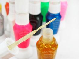 Wholesale Nail Art Striper Polish - Wholesale-FREE SHIPPING TO RUSSIA 12pcs lot 12 Colors 2-Way False Nail Art Glitter Makeup Polish Nail Art Striper Pen +Varnish Brush Set