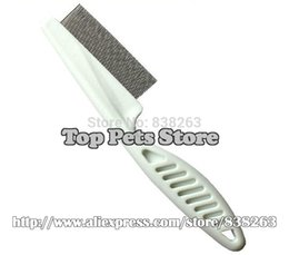 Wholesale Pet Flea Products - Wholesale-Pet wholesale supplies Dogs cats lice fleas removal of dense tooth comb White plastic handle dog puppy comb Free shipping