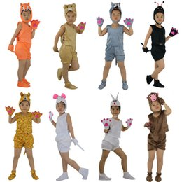 Wholesale Children Birthday Party Themes - Kids Children Cosplay Animal Theme Costume Fox Bear Ant Tiger Wolf Mouse Rabbit Monkey Short Sleeved Clothing Birthday Party Gift
