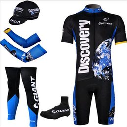 Wholesale Discovery Cycling Jersey Bib Shorts - 5 Pieces lot 2015 team Discovery pro bike jersey Shorts set MTB Cycling jersey bike bib shorts+3d gel pad maillot ciclismo cycling clothing