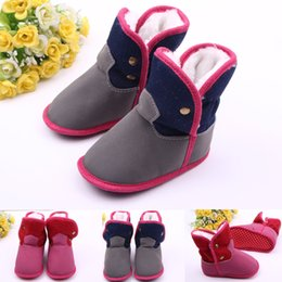 Wholesale Boys Size 11 Snow Boots - cotton baby winter boots grey color boys winter boots red color girls winter boots baby snow boots BX157 6pairs lot