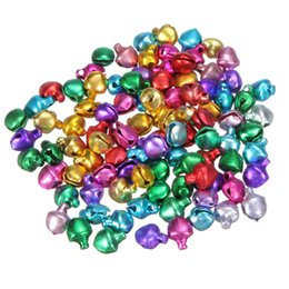 Wholesale Craft Christmas Ornaments - Hot Sale 1000Pcs lot Colorful Iron Loose Beads Small Jingle Bells Christmas Decoration Pendants DIY Crafts Handmade Accessories