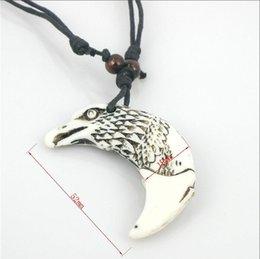 Wholesale Eagle Bone Pendant Necklace - Newest 40-70cm Adjustable Gothic Pendant Necklace Yak Bone Eagle Bull Turtle Necklace Snake Turtle Animal Totem Necklace 5000PCS DHL Free