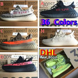 Wholesale Women Royal Blue Top - 2018 DHL TOP Kanye West Sply Boost 350 V2 zebra Men Women Sports sneakers ultra nmd boost 700 zx750 boost 350V2 Running Shoes
