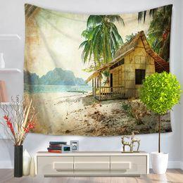 Argentina Tapiz de playa Impreso Árboles de coco Toallas de playa Estera Mantas de pared Decoración Mantelería Tapiz de pared Tapiz Hippie Tapiz Suministro