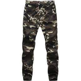 Wholesale Jogger Pants Men Cheap - Wholesale-Big size:M-5XL High quality cheap gym pants fashion casual Men trousers Camouflage cargo pants for men jogger pants