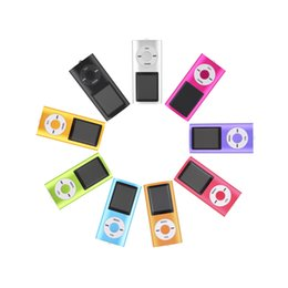 Wholesale Mp3 Memory Card Slot - New 4th 1.8 inch LCD Screen MP3 MP4 Player Memory Card Slot 2GB-16GB MP4 music Player Radio FM with Earphone Wholesale