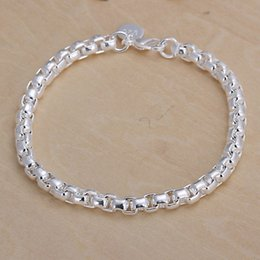 Wholesale Circular Set - Hot sale best gift 925 silver The new circular grid Bracelet DFMCH157,brand new fashion 925 sterling silver Chain link bracelets