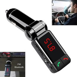 Wholesale Usb Extended - BC06 Car Bluetooth LCD MP3 Music Player Kit Auto Radio Player Hands-free FM Transmitter Extend Dual USB CAU_21T