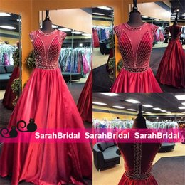Wholesale Long Skirt Plus Size Patterns - 2016 Vintage Summer Prom Dresses with Princess Jewel Sheer Neck and Long Ball Dance Formal Skirt Full Length Custom Made Plus Size Hot Gowns