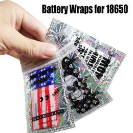 Wholesale Pvc Shrink - 18650 Battery PVC SKin Sticker Battery Wraps Vaper Wrapper Cover Sleeve Heat Shrink Vaping Proverbs Skeleton Skull Army National USA Flag