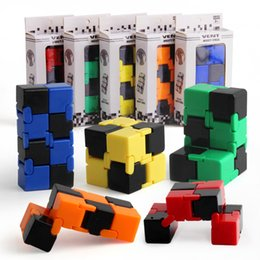Wholesale magic gags - Fidget Infinity Cube fingertips Toy For Decompression Anxiety Toy Novelty and Gag Work Class or Home entertainment Multicolor choice Magic