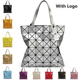 Wholesale Black Trunks Logo - With Logo Women Fashion BAOBAO Bag Geometry Package Sequins Mirror Saser Plain Folding Bags Designer Handbags Women Satchel Famous Brands