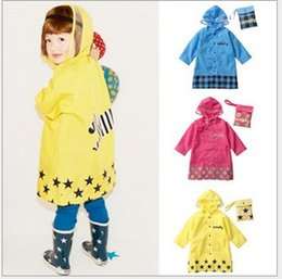 Wholesale Rain Gear Boys - Smally raincoat girl rain gear rain coat children's kids Boy boys baby girls kids cartoon animal A8
