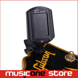 Wholesale Digital Clip Tuner - Eno ET-33 LCD Digital Guitar Tuners Metronome Black Mini Clip-on Guitar Accessories Adjustable View Angle Design High Quality Black MU0097