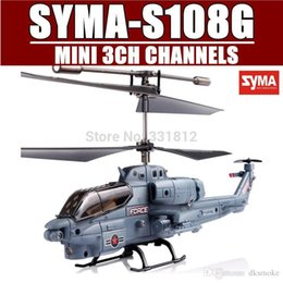 Wholesale 3ch Radio Control Helicopter - SYMA S108G 3CH Infrared Mini Radio Controlled RC Marine Cobra Helicopter Gyro