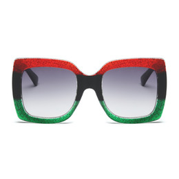 Wholesale Sexy Designer - STORY Sunglasses Luxury Brand Designer Oversized Tricolor Frame Green Red Sun Glasses For Women Large Sunglasses Sexy Ladies