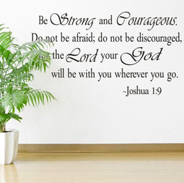 Wholesale Plastic Jesus Pieces - Christian Jesus Inspirational Quotes Vinyl Lettering Wall Stickers 8127 Decals for Living Bedroom Home Decoration English Quote