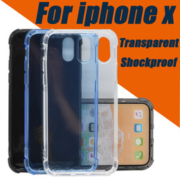 Wholesale Crystal Clear Case Cover - Transparent Case For IPhone X 8 7 6 Plus Shockproof Crystal Clear TPU Silicone Soft Cover For Samsung galaxy S7 S6 Cases