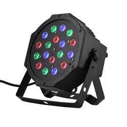 Wholesale Dmx 512 Moving - Wholesale-18*1W Par LED RGB DMX 512 Dj Stage Lighting moving heads High power For Disco Party Nightclub