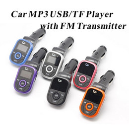 Wholesale Stereo Amplifier 24v - Universal Car MP3 Player FM Transmitter Modulator with Remote Control Support TF Card USB Disk 12-24V Enjoy Speaker Music in Car Colors 100P