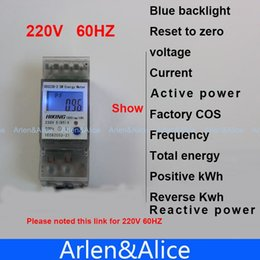 Wholesale Digital Watt Hour Meter - 5(65)A 220V 60HZ display voltage current Positive reverse active reactive power Single phase Din rail KWH Watt hour energy meter A3