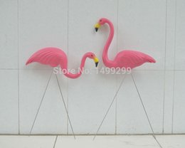 "Wholesale Rose Ornament - 1 Pair Plastic Rose Flamingo Garden ,Yard And Lawn Art Ornament Wedding Ceremony Decoration With 31 ""Height"
