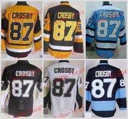 Wholesale hockey jerseys pittsburgh - Pittsburgh #87 sidney crosby Cheap Hockey Jerseys ICE Winter mens women kids Stitched Jersey Free shipping