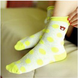 Wholesale Dimond Socks - Wholesale-W765 women's dot dimond plaid sock laciness gentlewomen full season casual all-match 100% cotton sports socks