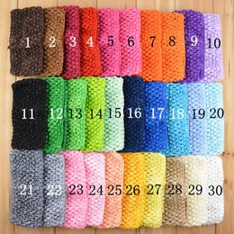 Wholesale Crochet Elastic Hair Bands - 2.75inch Wide baby crochet elastic headbands Girl TuTu crochet hair bands knitted headwear children hair accessories