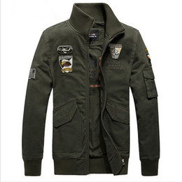 Wholesale Military Outdoor Clothing - Fall- Brand Men's Military Styled Jackets Outdoors Clothes Man Army Green Outerwear XXXL Coat VC2462