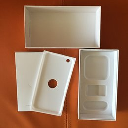 Wholesale Iphone White Box Accessories - 100pcs iphone 6 Box White Black Mobile phone Packaging US Volume Packaging US For Iphone 6 6 plus empty box no accessories