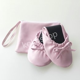Wholesale Dancing Ballerina Shoes - Free shipping ! Fashion popular women after party flats folding ballerina shoes dance ,club flat ballet shoes