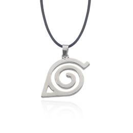 Wholesale Konoha Pendant - Hot Anime Naruto Necklace Kakashi Leaf Village Symbol Cosplay Pendant Necklaces Kakashi Konoha Ninja Jewelery Bijoux Collier