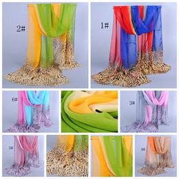 Wholesale popular grains - Hot Selling ! The new popular Double Color Leopard grain Patterned Chiffon scarves 160*50 cm 6-color (ab681)