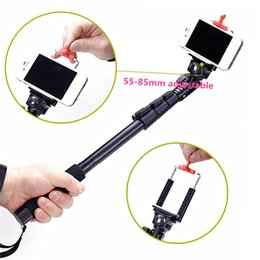 Wholesale Order Iphone Adapter - Camera Handheld Tripod Monopod Selfie Stick + Adapter + Phone Clip for iPhone 5S 6 for Samsung for Gopro 2 3 3+ 4 Camera order<$18no track