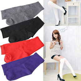 Wholesale Thick Cotton Tights Girls - Wholesale-Girl Overknee Cotton Stocking High Thigh Tight Socks Thick Cotton 5 Colors