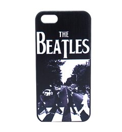 Wholesale Iphone 4s Fashion Covers - Wholesale Fashion The Beatles Pavement Design Hard Plastic Mobile Phone Case Cover For iPhone 4 4S 5 5S 5C