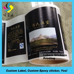 Wholesale Glass Label Printing - Factory price with high quality for custom printing glass bottle label for beer