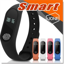 Wholesale Watch Wrist Band Box - M2 Fitness tracker Watch Band Heart Rate Monitor Waterproof Activity Tracker Smart Bracelet Pedometer Call remind Health Wristband With box