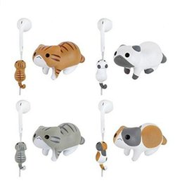 Wholesale X Clip Cable - Little Cat Cute Cartoon Wire Clip Decoration Cord Organizer Earphone Wrap Winder Fixer Holder Cord Manager Cable Winder for iphone X 8 7