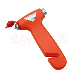 Аварийный выключатель онлайн-Wholesale-Auto Car Emergency Safety Gear Break Window Glass Hammer Belt Rope Cutter Tool Free Shipping