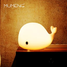 Wholesale Toy Animal Night Light - Wholesale- MUMENG LED Motion Sensor Dolphin Night Light USB Cute Whale Rechargeable Children Night Lamp Baby Toy Light Silicone Safety