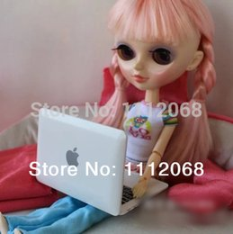 Wholesale Notebook Computer Accessories - Wholesale-Joint body doll small props Mini apple laptop for toys doll Small computer accessories notebook accessories