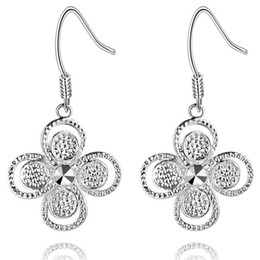 Wholesale Quatrefoil Jewelry - Foreign jewelry plating Silver Earrings 925 new quatrefoil Europe hot spot AE1010