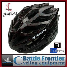 Wholesale Mountain Bike Helmets For Men - newest brand M L 55-61cm road mountain bike universal helmets for bicycle racer ultralight helmet with visor integrated