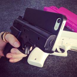 """Wholesale Wholesale Gun Cases - New COOL 3D GUN Cell Phone capas para For iphone X 8 7 Plus 7 6s 4.7"""" 6 plus SE 5S Plastic hand gun Pistol Shape hard PC case"""